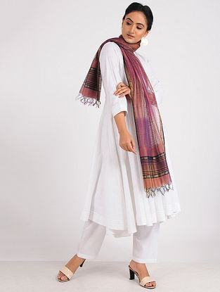 Peach Chanderi Dupatta with Zari