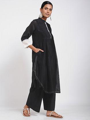 Black Shibori Chanderi Tunic