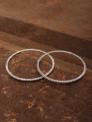 Classic Silver Bangles (Set of 2) (Bangle Size: 2/6)