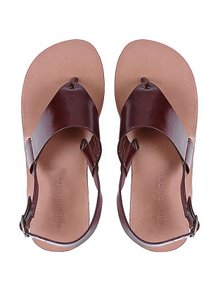 Brown Hand-crafted Leather Flats for Women