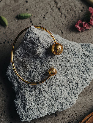 Gold Plated Handcrafted Brass Adjustable Cuff
