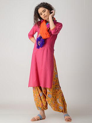Pink-Orange Cotton Kurta