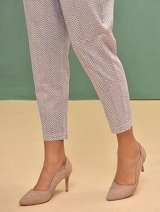 Pink-Grey Elasticated Waist Cotton Pants