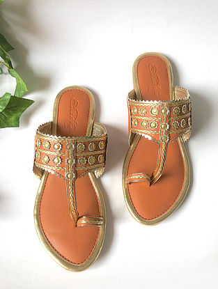 Tan Leather Kolhapuri Flats