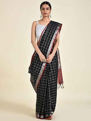 Red-Green Handwoven Cotton Saree