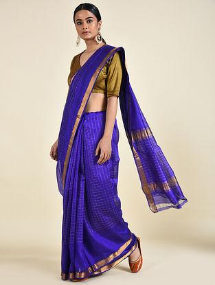 Blue Handwoven Silk Cotton Saree