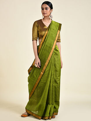 Green Handwoven Silk Cotton Saree