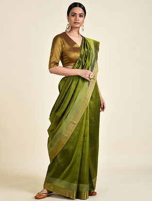 Green Handwoven Silk Saree