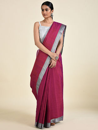 Pink Handwoven Silk Saree