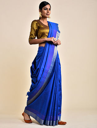 Blue Handwoven Silk Saree
