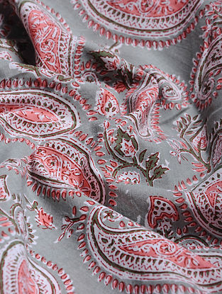 Multicolor Hand Block Printed Cotton Upholstery Fabric