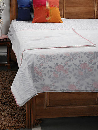 Pink Cotton Voile Double Dohar (106in x 90in)