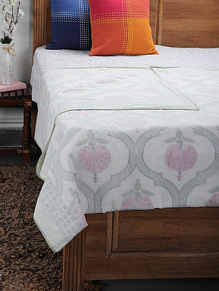 Pink Cotton Voile Double Dohar (108in x 90in)