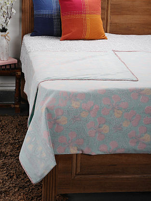 Green Cotton Voile Double Dohar (106in x 90in)
