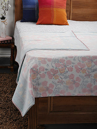 Pink Cotton Voile Double Dohar (106in x 92in)