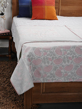 Pink Cotton Voile Double Dohar (108in x 92in)