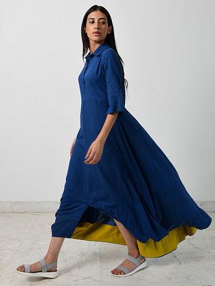Blue Khadi Dress