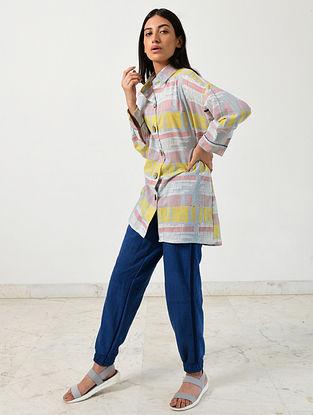 Multicolored Block Printed Khadi Shirt