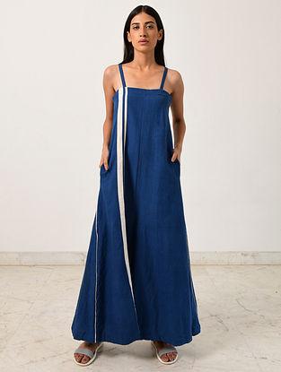 Blue Khadi Jumpsuit