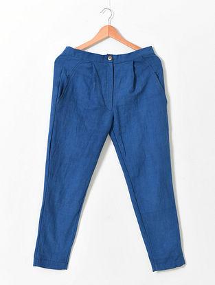 Blue Khadi Pants