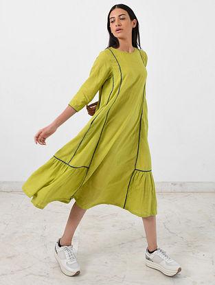 Green Khadi Dress