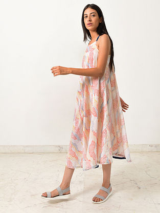 Multicolored Block Printed Khadi Maxi Dress