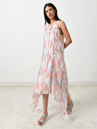 Multicolored Block Printed Khadi Dress