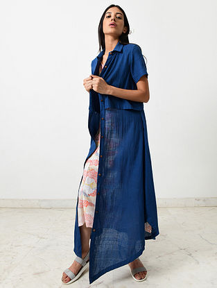 Multicolored Block Printed Khadi Jacket with Slip (Set of 2)
