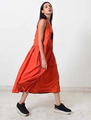 Rustic Orange Khadi Dress