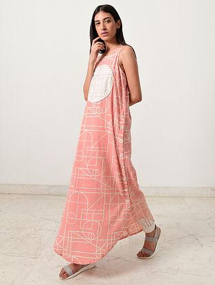 Almond Coral Block Printed Khadi Kurta with Pants (Set of 2)