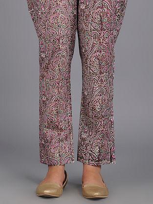 Multicolored Block-printed Cotton Pants