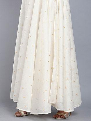 Cream Benarasi Cotton Skirt