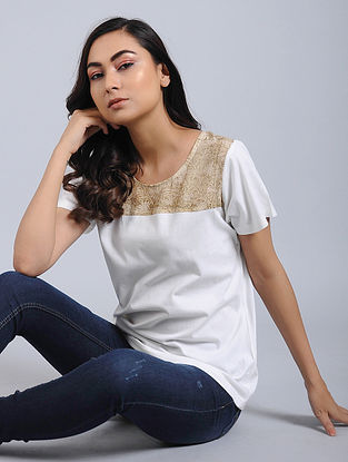 Ivory Knitted Cotton Top