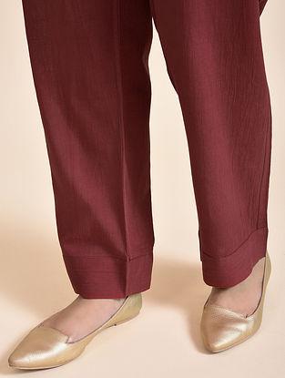Maroon Cotton Pants