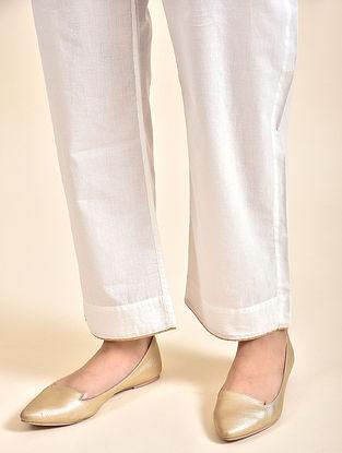 Ivory Cotton Pants