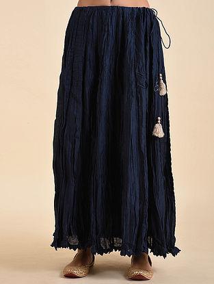 Indigo Chanderi Skirt