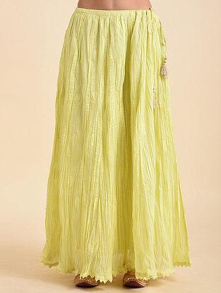 Yellow Benarasi Cutwork Skirt