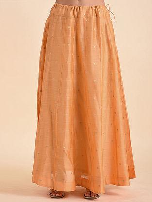 Tangerine Benarasi Jacquard Skirt
