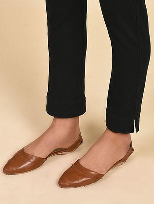 Black Cotton Elasticated Pants