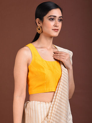 Yellow Chanderi Blouse
