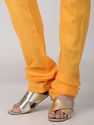 Orange Tie-up Waist Cotton Churidar