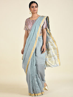 Grey Benarasi Chanderi Saree