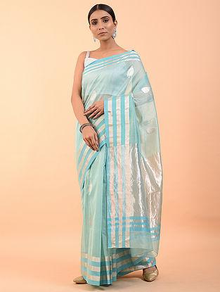 Blue Handwoven Chanderi Saree