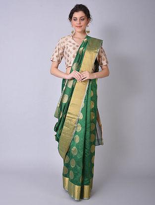 Green Handwoven Chanderi Saree