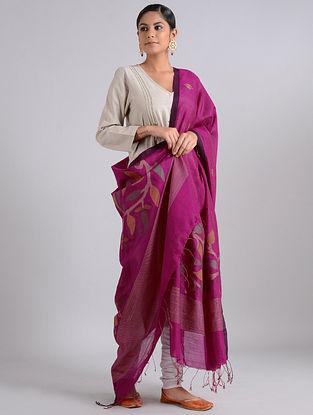 Pink Handwoven Dhakai Muslin Silk Dupatta