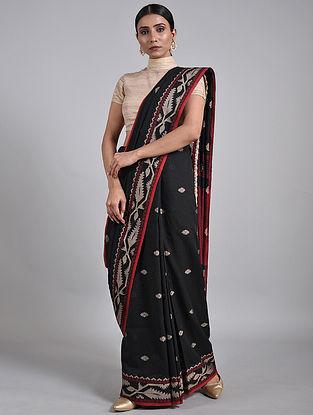 Black-Ivory Handwoven Cotton Saree