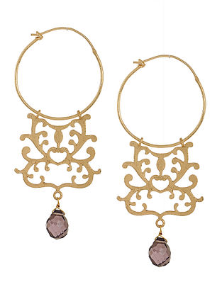Amethyst Gold-plated Earrings
