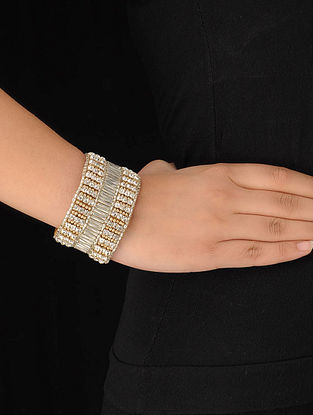 Tan Crystal Cuff