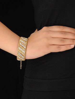 Tan Crystal Bracelet