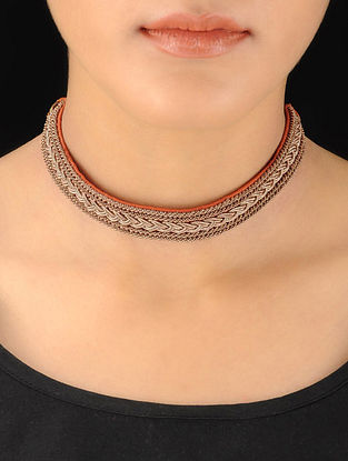 Orange-Gold Choker